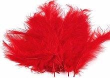 1bag 5 Rosso Piume di Struzzo Lunghezza 9-16 Cm, E
