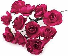 1bunch Rosa Artificiale Rose Per Boutonnierre