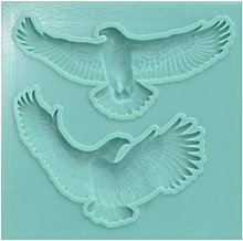 1pc 2 Aquila Uccello Animale 3d in Silicone Uv
