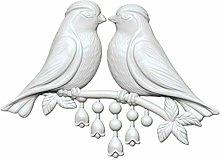 1pc 2 Uccello Twig Amore 3d in Silicone di san