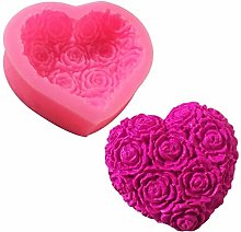 1pc 3d Love Love Heart Rose Flower Forma Stampo in