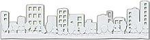1pc Città W Alberi 3d in Silicone Ornamento Uv