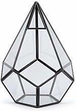 1pc in Vetro Trasparente Piramide Aerium 16x18cm,