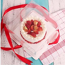 1Pc trasparente Cake Box monouso Pirottino Torta