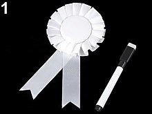 1set White Party Spilla/Badge Ø8cm Con il segno,