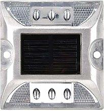 2 LED Solar Power Ground Marker Lights Lampada da