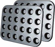 2 mini stampini per muffin con 24 pirottini,