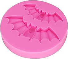 2 PCS Halloween Bat Forma Stampo in silicone