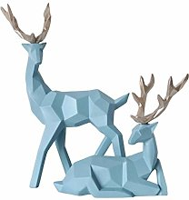 2 pezzi Coppia geometrica Deer Statua Elk figurine