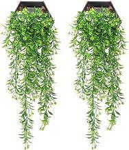 2 pezzi Decorazione di piante artificiali da