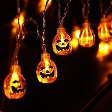 2 pezzi di luci stringa di zucca halloween, 3