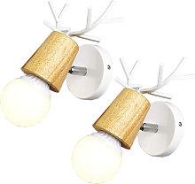 2 pezzi di moderna lampada da parete animale