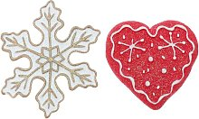 2 pezzi di Natale in resina pupazzo di neve albero
