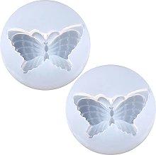 2 pezzi farfalla portachiavi collana orecchini