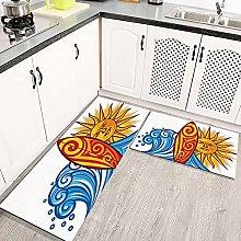 2 pezzi Tappetini da Cucina Antiscivolo Art