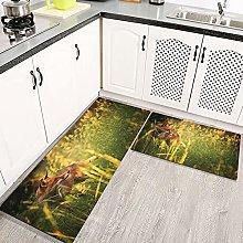 2 pezzi Tappetini da Cucina Antiscivolo Galaxy