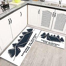 2 pezzi Tappetini da Cucina Antiscivolo Pattern di
