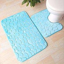 2 pezzi tappeto da bagno assorbente antiscivolo