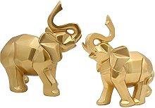 2 Pz Elefante Modello Statua Artigianato In Resina