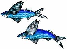 2 Pz/Set Metallo Pesce Pesce Parete per La