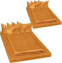 2 set di biancheria da letto in satin, 200x150 cm,
