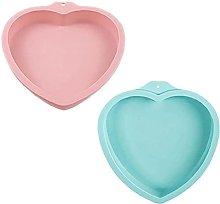 2 stampi in silicone per torta, a forma di cuore,