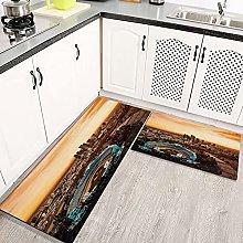 2 tappetini da cucina anti-antiscivolo