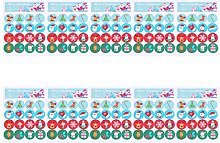 20 fogli di forma rotonda etichetta natalizia