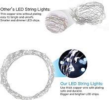 20 LEDs Luci Stringa 2m/6.5ft Fili Rame Bianco