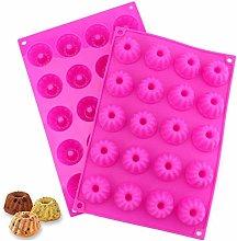 20 mini stampi per dolci in silicone, NALCY