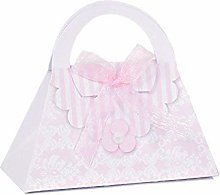 20 Pezzi Portaconfetti Borsa Borsetta Fashion Rosa