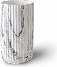 22CM bianco marmo Fiori Vaso Decorativo di Design