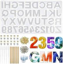 232PCS Stampi in silicone per lettere, Stampi in