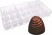 24 fori 3D Spiral stampo per cioccolatini, PC