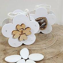 24 scatoline porta confetti in legno a forma di