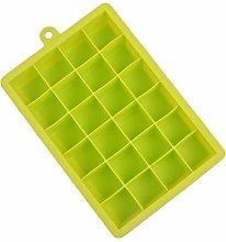 24 vassoi in silicone per cubetti di ghiaccio con