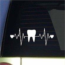 24X58 Cm Denti Denti Adesivo Dentista Decalcomania