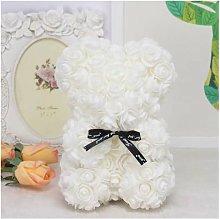 25 cm Rosa Flower Bear Foam PE Flower Eternal