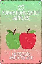 25 divertenti Puns About Apples Vintage Look 20 x