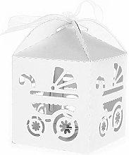 25 PZ Bianco Scatoline Portaconfetti Bambina per