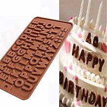 26 lettere in silicone per torta di cioccolato