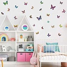 26 Pezzi Adesivi Murali Colorato Farfalle, Arte