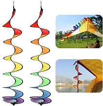2pc colorato a spirale a spirale tenda tenda vento