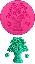 2pcs cesti di fiori flower stampo in silicone