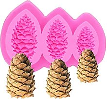 2pcs Christmas Pine Cones Forma Stampo in silicone