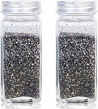 2pcs Glass Spice Salt Pepper Shaker Shaker