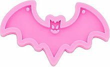 2pcs Halloween Bat Shape Silicone Stampo in