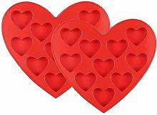 2pcs stampo a forma di cuore,stampi in silicone