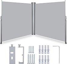 2PCS Tenda da Sole Laterale Avvolgibile 180x 300cm