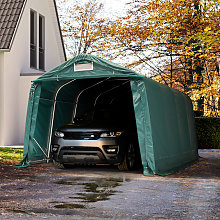 3,3x4,8m Tenda Garage, Box Auto PVC 550, verde